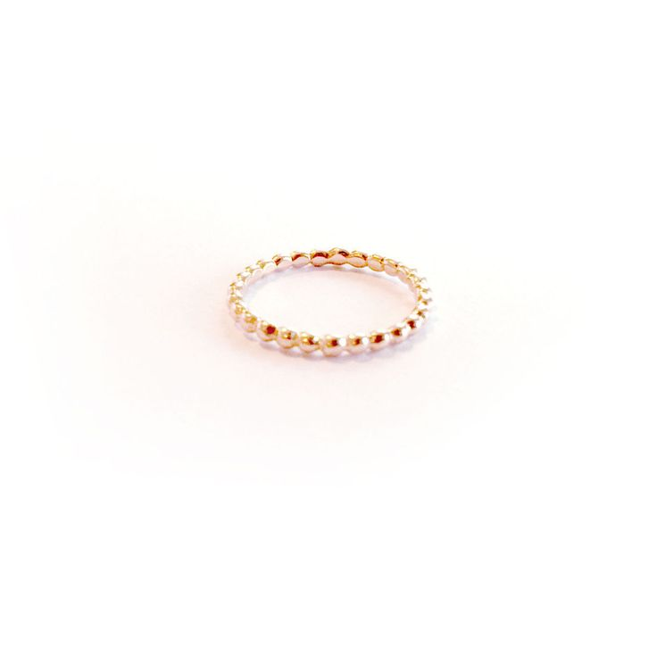 Image of Lady rose gold stack ring