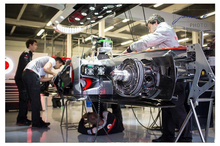 Formula 1 – Silverstone 2012. McLaren Mercedes garage pits. www.jameskphoto.co.uk