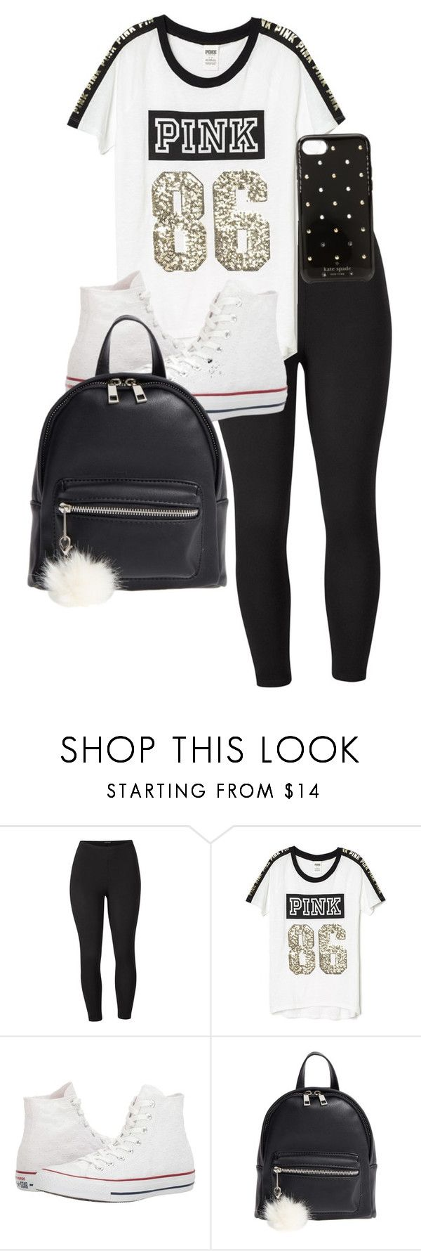 """""""Wednesday at School"""" by alandra333 on Polyvore featuring Venus, Victoria's Secret, Converse, BP., Kate Spade and plus size clothing"""