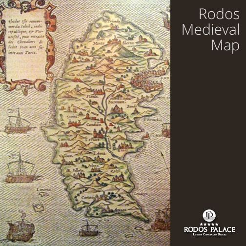 Who likes old good medieval maps... of Rhodes?  www.rodos-palace.com #RodosPalaceHotel #Medieval #Map #Geography #Rodos