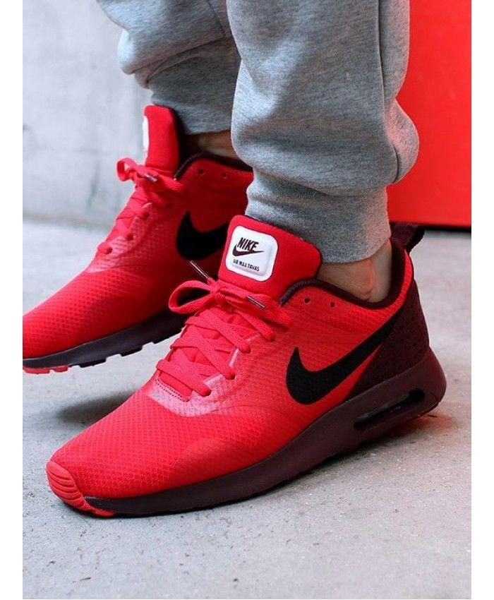 b3c618e71a79 Air Max Tavas Red Dark Brown Shoes