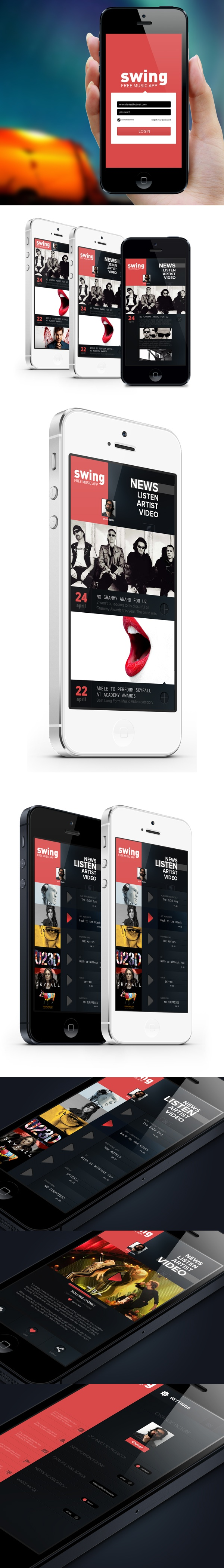 iphone Music App (concept) by Enes Danis, via Behance