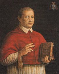 Cardinal Sisto Gara della Rovere (1473-1517)  Nephew of Pope Julius II and grand-nephew of Pope Sixtus IV. Half brother of Cardinal Galeotto Franciotti della Rovere