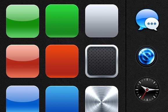 iOS app icon bases + extra's by kubilays on @creativemarket