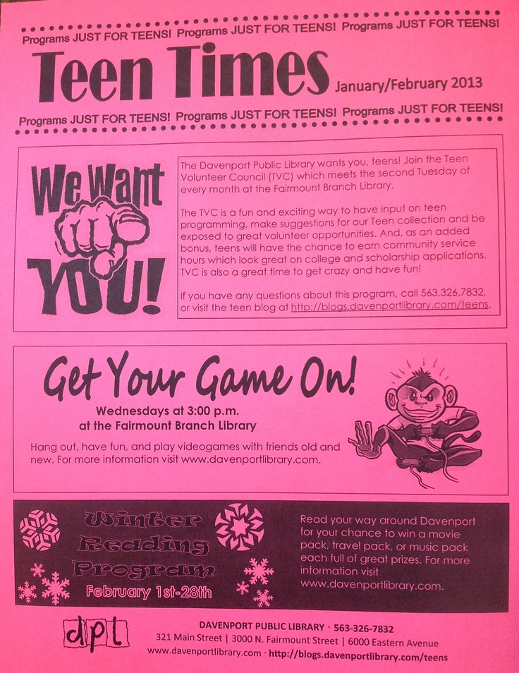 Teen Programming HQ - YALSA Find & share library