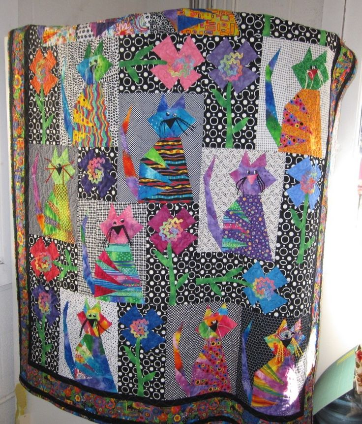 Those Crazy Catz Quilt pattern by Buggy Barn.