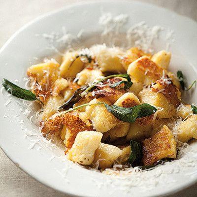 Taste Mag | Burnt butter and sage pan-fried gnocchi with Parmesan @ http://taste.co.za/recipes/burnt-butter-and-sage-pan-fried-gnocchi-with-parmesan/