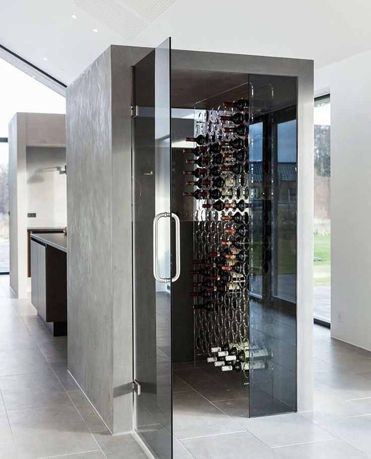Who needs a wine cellar when you can store the bottles in your kitchen with a Wine Wall from Kastrup Design?  Find smaller versions at eniito.com