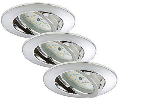 http://ift.tt/1Yrwn67 Briloner Leuchten LED Einbauleuchten Einbaustrahler 3-er Set schwenkbar 5W IP23 energiesparend Energieeffizienzklasse A chrom 7209-038 @salesiiju@