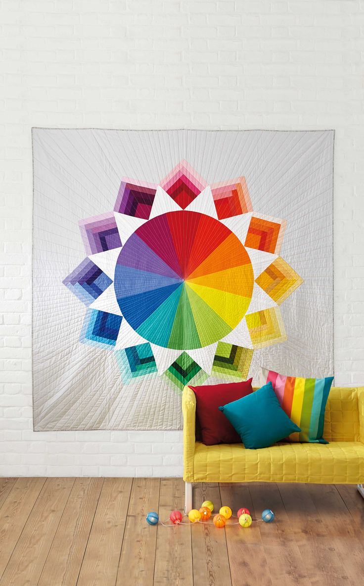 Color circle art publishing - Colour Wheel Quilt By Holly Degroot For Love Patchwork Quilting Magazine Issue 12