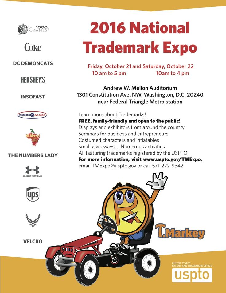 More Info: http://www.uspto.gov/trademark/trademark-updates-and-announcements/about-usptos-national-trademark-expo