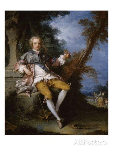 """Louis XV, adolescent, représenté en costume de """"pèlerin pour Cythère"""""""