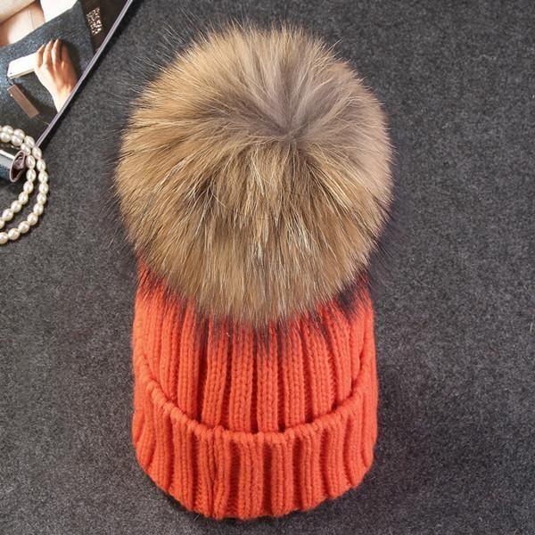 4c878e6c815 ... various colors 4d8f7 7d4b5 Purple Relic Mink Fur Ball Winter Cap ~ Pom  Poms Women Beanies ...