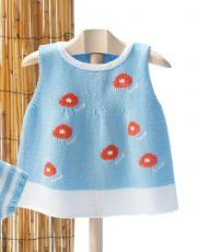 Book Baby 68 Spring / Summer | 42: Baby Dress | Sky blue / White / Coral