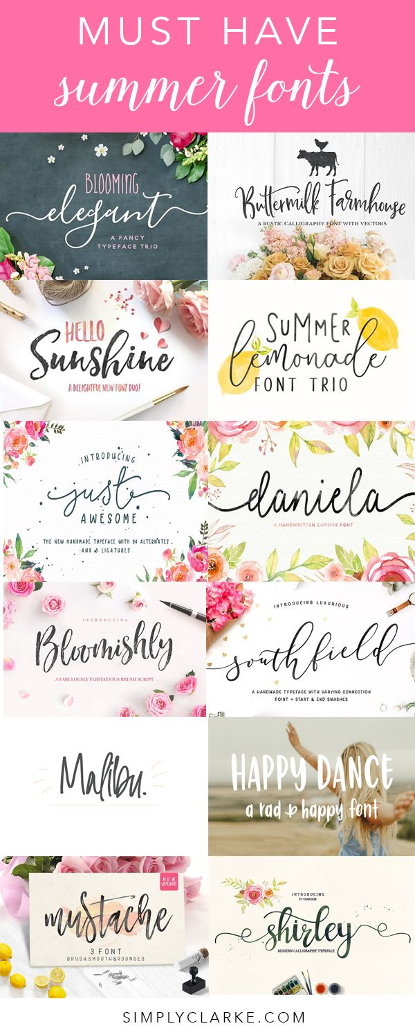 Blooming Elegant | Buttermilk Farmhouse | Hello Sunshine | Summer Lemonade Just Awesome | Daniela | Bloomishly | Southfield | Malibu Happy Dance | Mustache | Shirley With the birth of our new baby boy, I haven't been taking on too many design projects and I have been majorly missing it this past week so I …