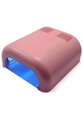 36W UV Lichthärtungsgerät Nagel Trockner pink mit 4x9W Röhren aus DE