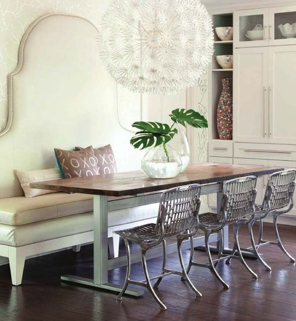 .: Dining Rooms, Interior, Idea, Breakfast Nooks, Bench, Diningroom, Kitchen, Design