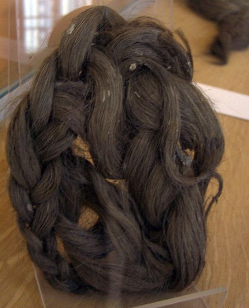 Second century braided hair piece from the site of Martres de Veyre.
