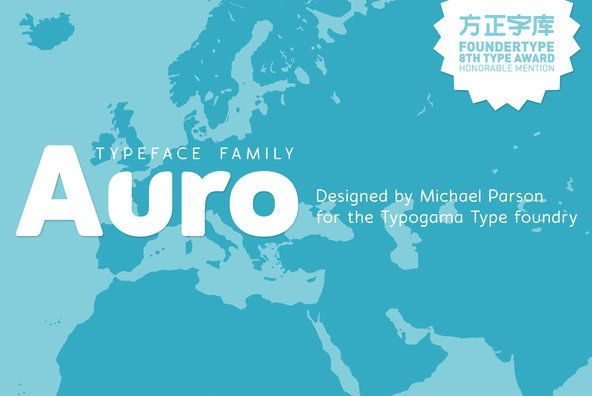 Auro - Auro is a friendly, rounded sans serif that was created as a contemporary typeface solution for bran...