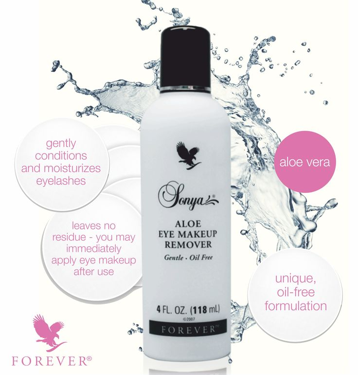 This gentle, lightweight aloe vera gel formula works quickly and gently to thoroughly remove eye makeup.
