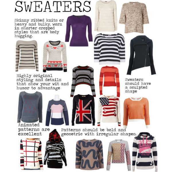 """""""Flamboyant Gamine (FG) Sweaters"""" by lightspring on Polyvore"""