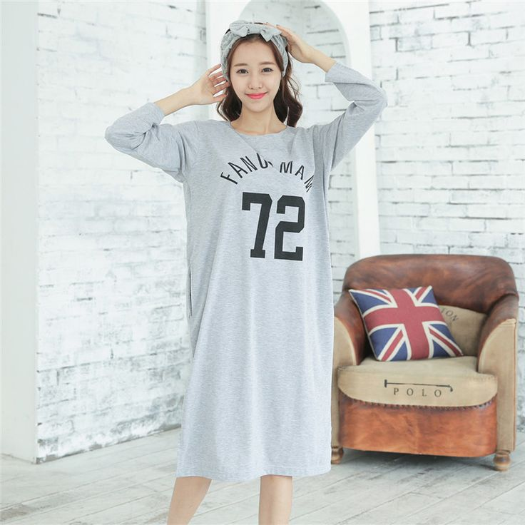 Fashion Women Autumn Night Skirt Leisure Home Clothes Long Sleeve Longuette NIghtgown For Women Serve WInter Sleepwear