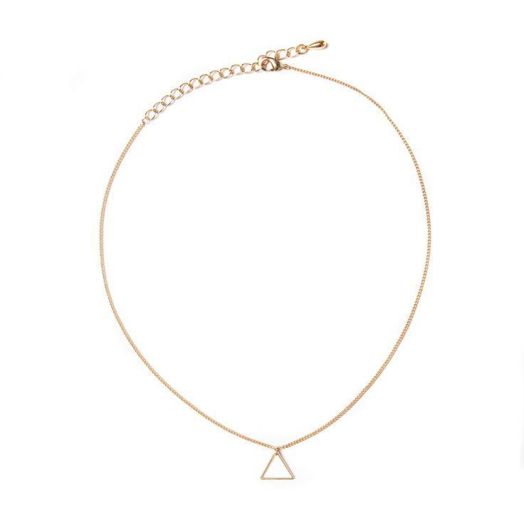 Gouden ketting met driehoek