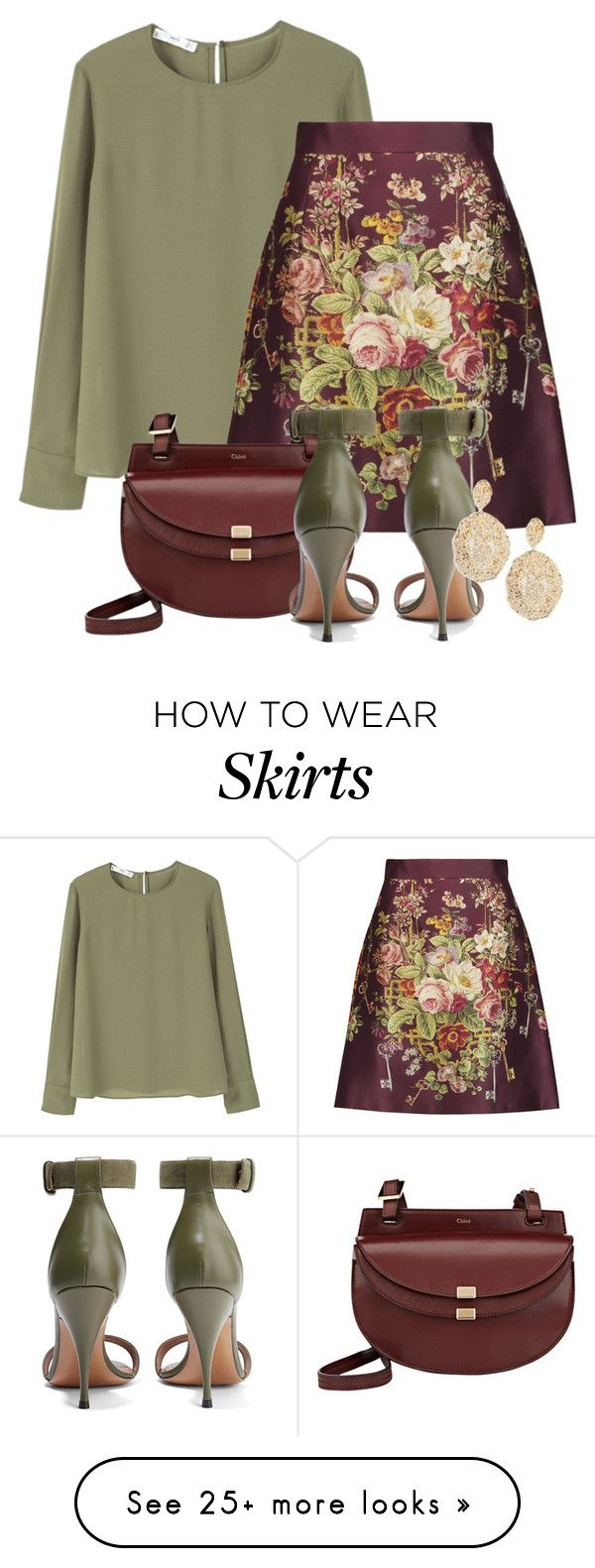 """Friday Work Outfit"" by christined1960 on Polyvore featuring MANGO, Dolce&Gabbana, Chloé, Givenchy and Aurélie Bidermann"