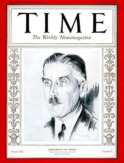 Franz von Papen   July 4, 1932