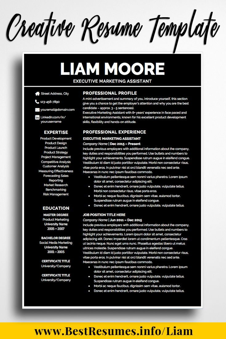 Resume Template Liam Moore | I\'m Building Something Great | Pinterest