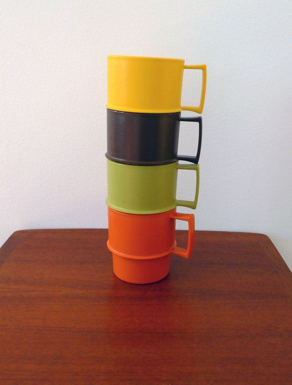 Set of Four Vintage Tupperwear Camping Picnic by LastMountainMisc, $15.00