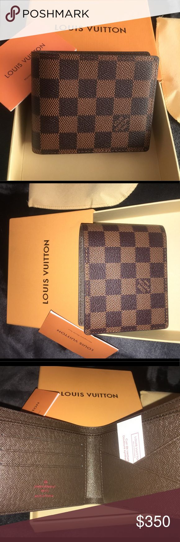 BB-Authentic Louis Vuitton Damier Graphite NWT Brand New with tags Authentic Louis Vuitton Mens Wallet. Beautiful piece on its original box. Instead of paying $490 + Tax at the store you can own it for just $350 Louis Vuitton Bags Wallets