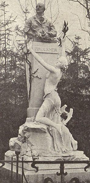 Anton Bruckner's Monument in Vienna's Stadtpark