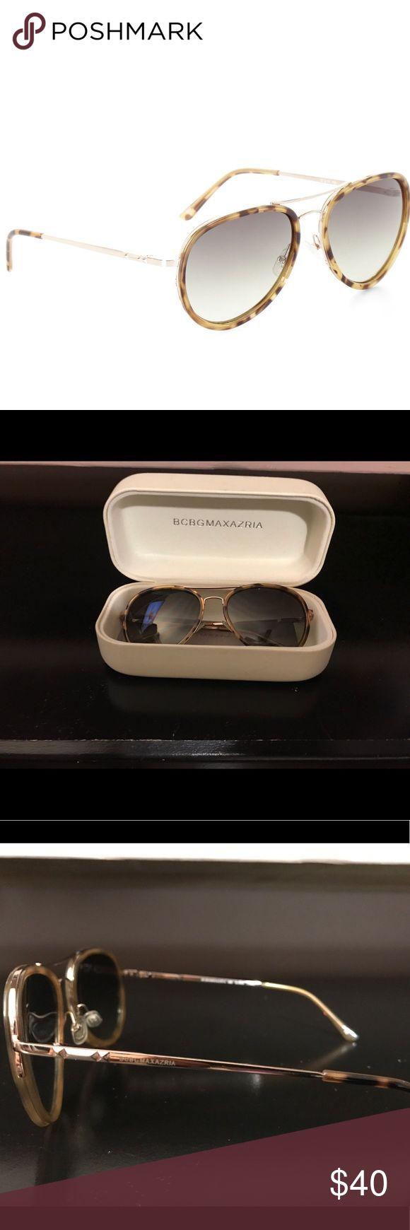 BCBG MAXAZARIA sunglasses Leopard blonde combo BCBG sunglasses in amazing condition! Worn once. Case is worn due to storage. Comes with original dust cloth and case. BCBGMaxAzria Accessories Sunglasses
