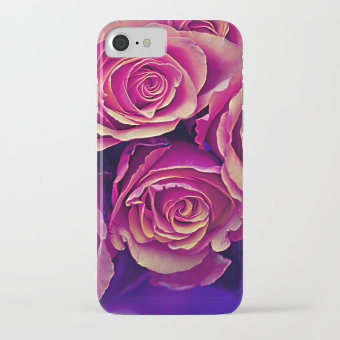 Buy Vintage violet roses iPhone Case by maryberg. Worldwide shipping available at Society6.com. Just one of millions of high quality products available.