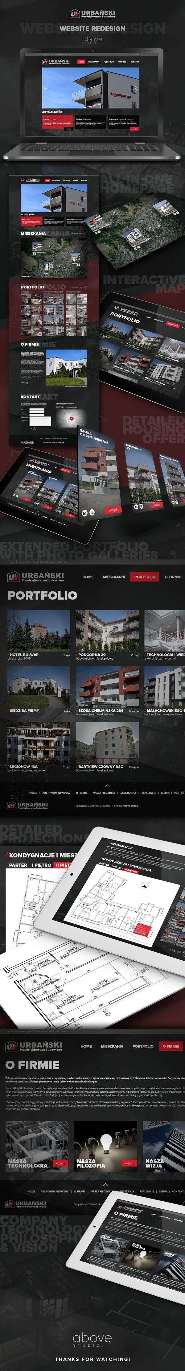 Website ReDesign for Przedsiębiorstwo Budowlane URBAŃSKI, Toruń, Poland