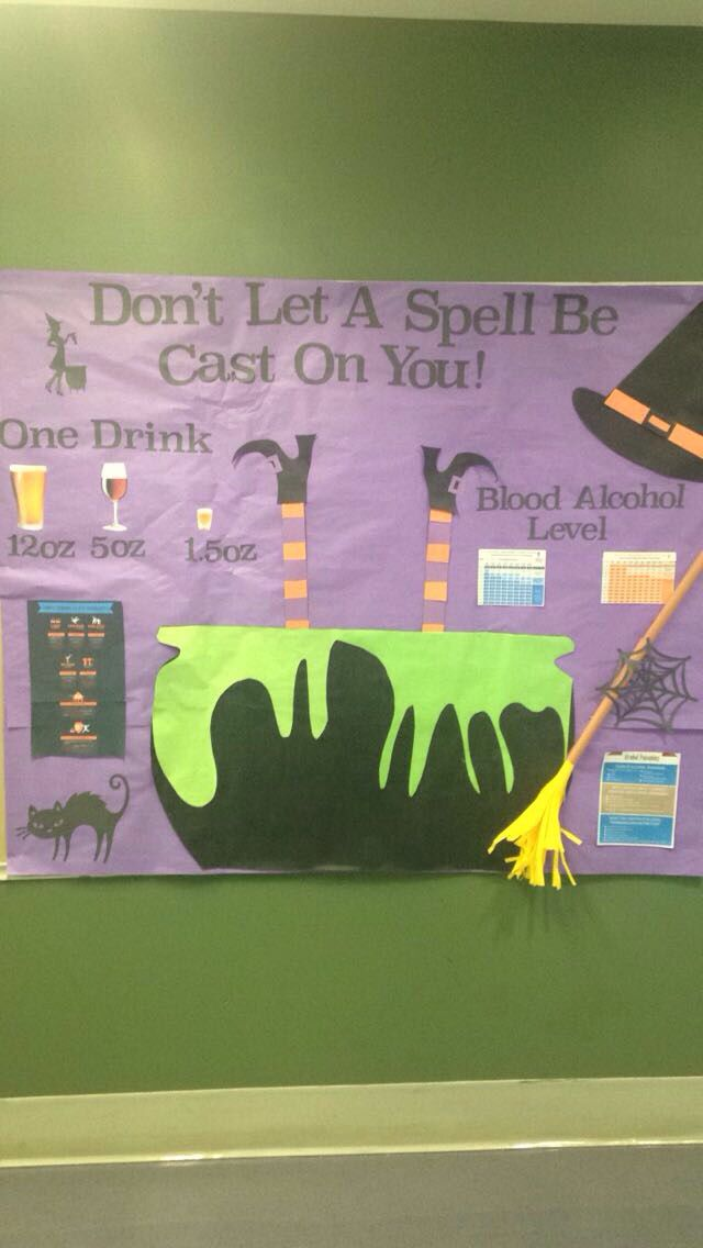 October Bulletin Board about Alcohol Awareness.