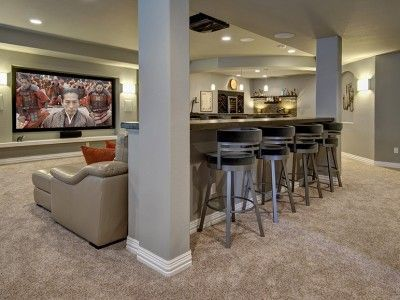finished basement ideas cool basements baserooom idea basement rh pinterest com