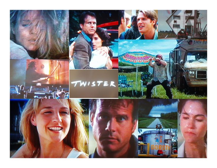 "TWISTER (1996)  Bill Paxton, Helen Hunt and Philip Seymour Hoffman entertain as exciting storm chasers. (Much more exciting than ""Twister"" the Ride at Universal Orlando!!)"