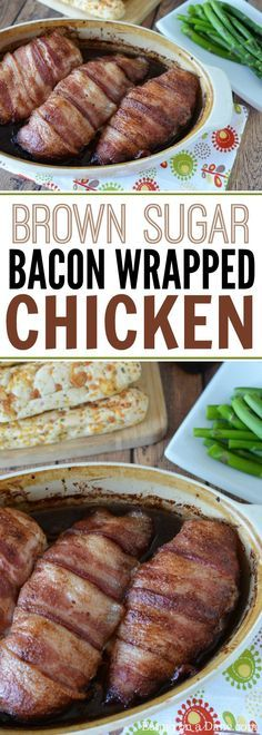 Try this recipe for bacon wrapped chicken. You will love the chicken wrapped in bacon combined with brown sugar. It's so quick and easy.