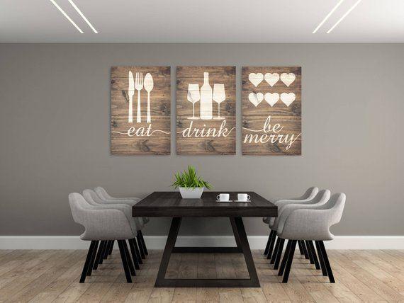 Handmade S Gray Dining Room Wall, Dining Room Wall Art