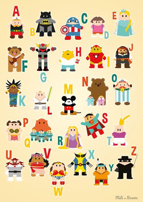 L'Abécédaire des Super Héros est disponible sur Society6 en Impression d'Art ! https://society6.com/product/abcd-superheros_print?sku=s6-7981723p4a1v1