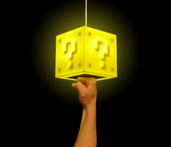 Mario Lamp!Geek, Pendants Lamps, Lights, Games Room, Super Mario Brother, Block Lamps, 8Bit, Super Mario Bros, 8 Bit
