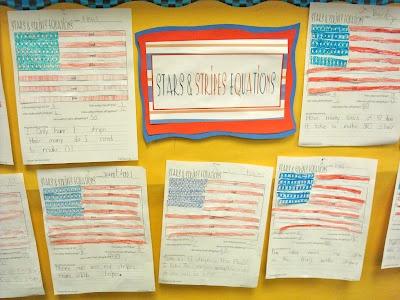 Stars & Stripes Equations... Math mini-lesson with American Flag: American Flag