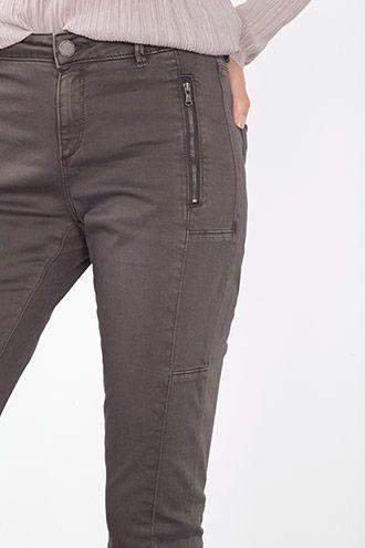 Esprit / Bukser i bomuldsstretch med used-effekt