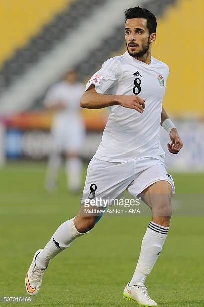 Mahmoud Almardi of Jordan during the AFC U23 Championship quarter final match between South Korea v Jordan at the Suhaim Bin Hamad Stadium on January...