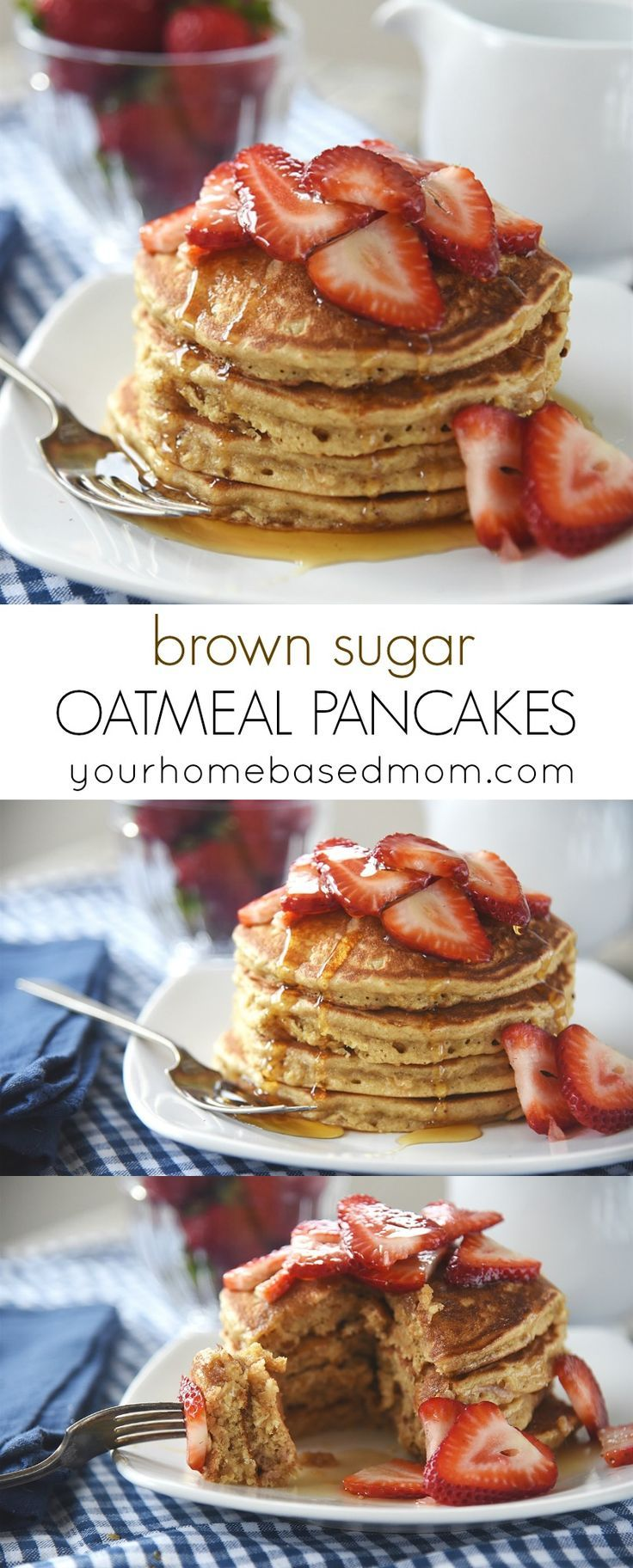 Brown Sugar Oatmeal Pancakes Recipe - these are fantastic for breakfast or dinner!
