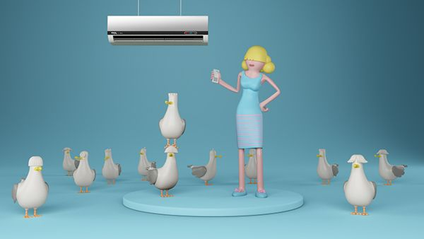 TCL - Air Conditioner by Plenty , via Behance