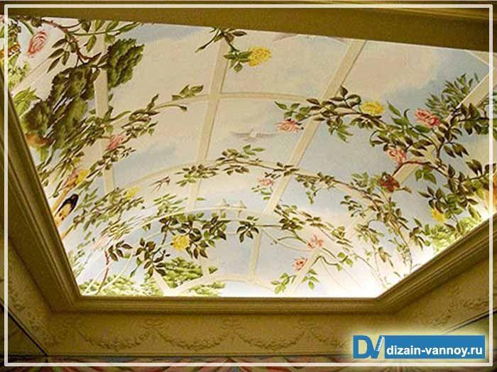 Картинки по запросу роспись потолка в спальне
