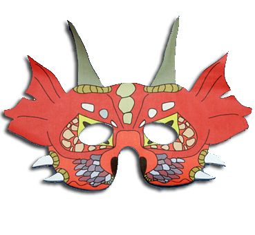 masque de dragon asiatique
